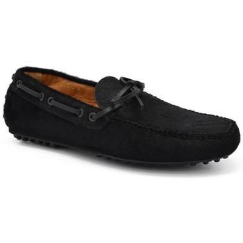 Schuhe Herren Slipper Car Shoe  Schwarz