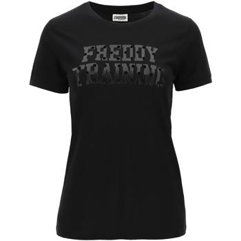 Kleidung Damen T-Shirts Freddy - T-shirt nero F0WTRT1-N NERO