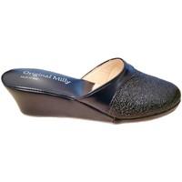 Schuhe Damen Pantoffel Milly MILLY4000blu blu