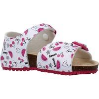 Schuhe Mädchen Sandalen / Sandaletten Garvalin 202660 Weiß