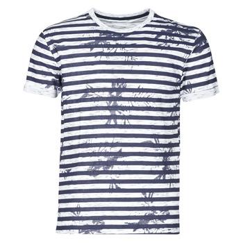 Kleidung Herren T-Shirts Yurban OLORD Marine / Weiss
