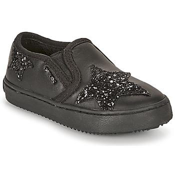 Schuhe Mädchen Sneaker Low Geox J KALISPERA FILLE Schwarz
