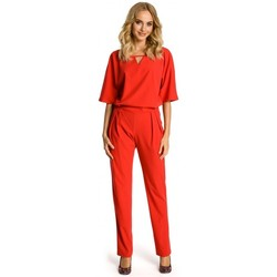 Kleidung Damen Overalls / Latzhosen Moe M334 Jumpsuit mit Kimono-Ärmel - rot