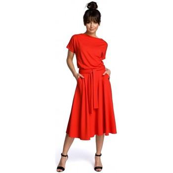 Kleidung Damen Kurze Kleider Be B067 Ausgestelltes Kleid - rot
