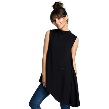 Kleidung Damen Tops / Blusen Be B069 Asymmetrisches ärmelloses Top - schwarz