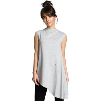 Kleidung Damen Tops / Blusen Be B069 Asymmetrisches ärmelloses Top - grau