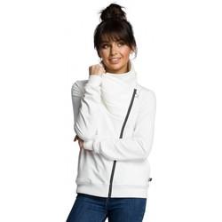 Kleidung Damen Jacken Be B071 Sweatshirt mit Reißverschluss - ecru