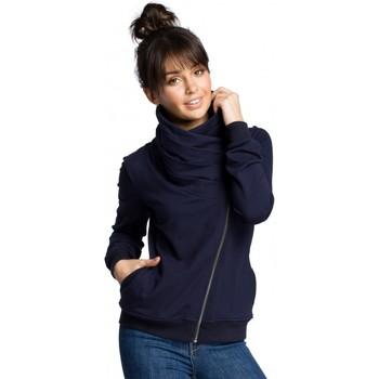 Kleidung Damen Sweatshirts Be B071 Sweatshirt mit Reißverschluss - navy blau