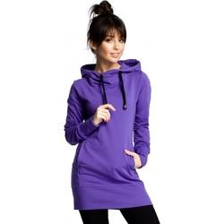 Kleidung Damen Sweatshirts Be B072 Langer Pullover - lila