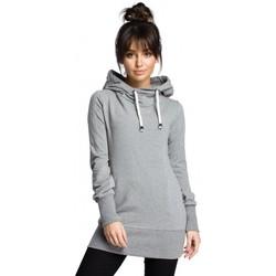 Kleidung Damen Sweatshirts Be B072 Langer Pullover - grau