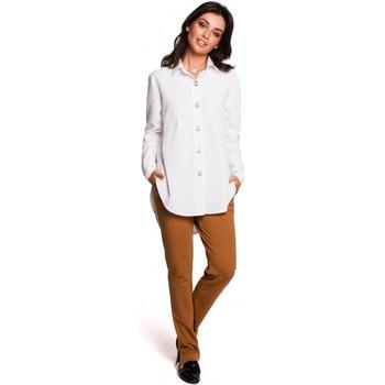 Kleidung Damen Hemden Be B122 Hemd mit Kragen - weiß