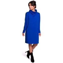Kleidung Damen Kurze Kleider Be B132 Hochgeschlossenes Kleid - königsblau