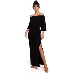 Kleidung Damen Kleider Be B146 Schulterfreies Maxikleid - schwarz
