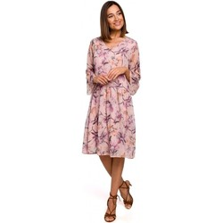 Kleidung Damen Kurze Kleider Style S214 Chiffonkleid mit tiefer Taille - Modell 2