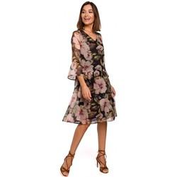 Kleidung Damen Kurze Kleider Style S214 Chiffonkleid mit tiefer Taille - Modell 3