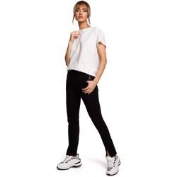 Kleidung Damen Chinohosen Moe M493 Hose mit geteiltem Bein - schwarz