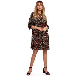 Kleidung Damen Kurze Kleider Moe M521 Kleid mit Rüschenärmeln - Modell 6
