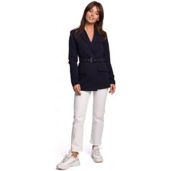 Kleidung Damen Anzugjacken Be B160 Einteiliger Jumpsuit mit Schnallengürtel - schwarz
