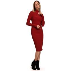 Kleidung Damen Maxikleider Moe M542 Rollkragen-Strickkleid - schwarz