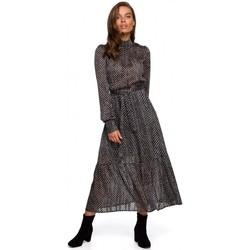 Kleidung Damen Maxikleider Style S238 Sukienka midi szyfonowa w groszki - Modell 2