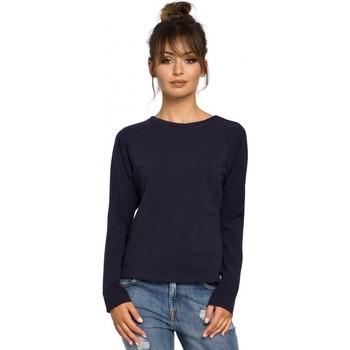 Kleidung Damen Tops / Blusen Be B047 Vielseitige Bluse - navyblau