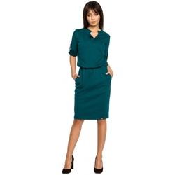 Kleidung Damen Kurze Kleider Be B056 Strickkleid im Shirt-Stil - grün