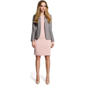 Kleidung Damen Anzugjacken Moe M358 Klassischer Blazer mit Stehkragen - grau