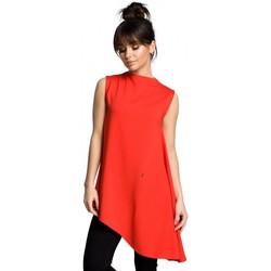 Kleidung Damen Tops / Blusen Be B069 Asymmetrisches ärmelloses Top - rot