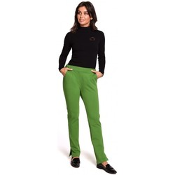 Kleidung Damen Hosen Be B124 Jogger-Hose mit Schlitz - lime