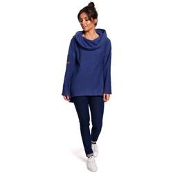 Kleidung Damen Sweatshirts Be B131 Pullover mit hohem Kragen - indigo