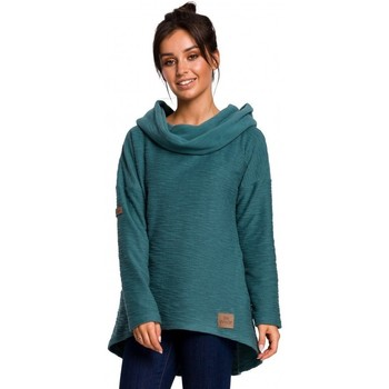 Kleidung Damen Sweatshirts Be B131 Pullover mit hohem Kragen - türkis