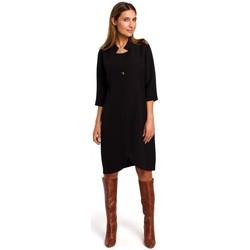 Kleidung Damen Kurze Kleider Style S189 Blazerkleid - schwarz