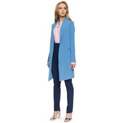 Kleidung Damen Anzugjacken Style S071 Langer Blazer - blau