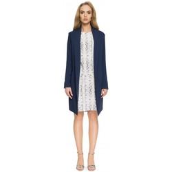 Kleidung Damen Anzugjacken Style S071 Langer Blazer - navyblau