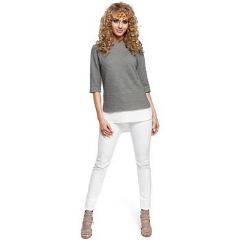 Kleidung Damen Tops / Blusen Moe M290 Doppellagige Bluse - grau