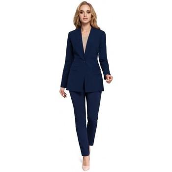 Kleidung Damen Anzugjacken Moe M304 Jacke mit einem Knopf - marineblau