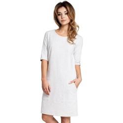 Kleidung Damen Kurze Kleider Be B033 Box Etuikleid - stracciatella