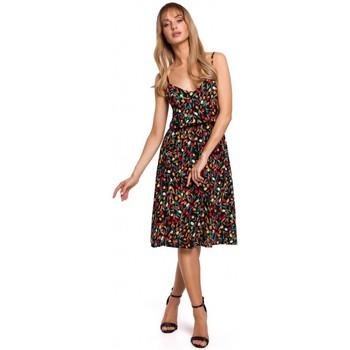 Kleidung Damen Kleider Moe M518 Spaghetti-Träger-Kleid in A-Linie - Modell 6