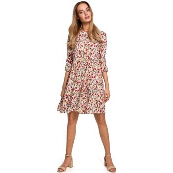 Kleidung Damen Kurze Kleider Moe M521 Kleid mit Rüschenärmeln - Modell 5