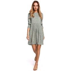Kleidung Damen Kleider Moe M521 Kleid mit Rüschenärmeln - Modell 7