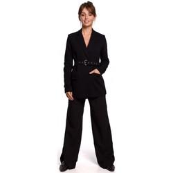 Kleidung Damen Anzugjacken Be B159 Schnallengürtel Blazer - braun