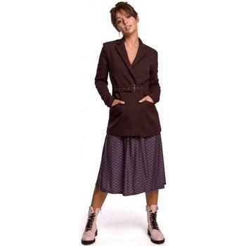 Kleidung Damen Anzugjacken Be B159 Schnallengürtel Blazer - dunkelgrün