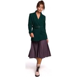 Kleidung Damen Anzugjacken Be B159 Gürtelschnalle Blazer - marineblau