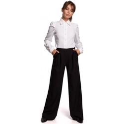 Kleidung Damen Hosen Be B164 Weit geschnittene Hose - schwarz