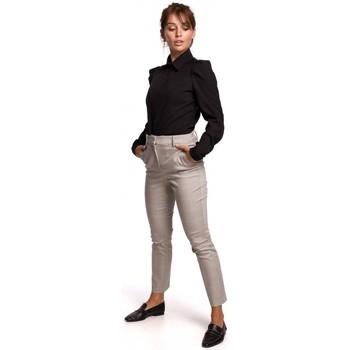 Kleidung Damen Hemden Be B165 Hemd mit Puffärmeln - schwarz