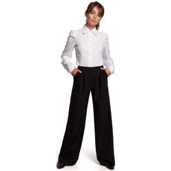 Kleidung Damen Hemden Be B165 Hemd mit Puffärmeln - weiß