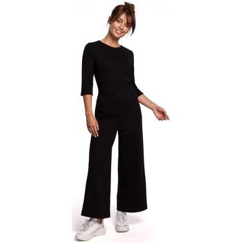 Kleidung Damen Overalls / Latzhosen Be B174 Jumpsuit mit weitem Bein - schwarz