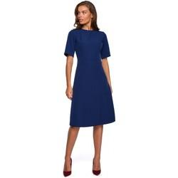 Kleidung Damen Kurze Kleider Style S240 Wickelkleid - Puder