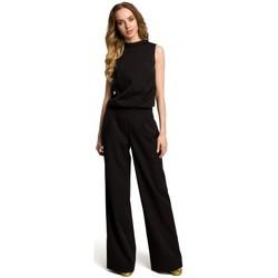 Kleidung Damen Overalls / Latzhosen Moe M382 Jumpsuit mit geteiltem Rücken - schwarz