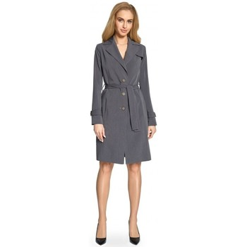 Kleidung Damen Trenchcoats Style S094 Trenchcoat - grau